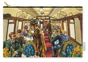 The Comfort Of The Pullman Coach Of A Victorian Passenger Train Carry-all Pouch