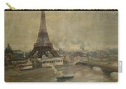 The Construction Of The Eiffel Tower Carry-all Pouch by Paul Louis Delance