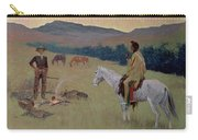 The Conversation Carry-all Pouch by Frederic Remington