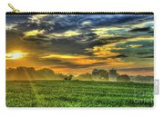 The Cornfield Dawn The Iron Horse Collection Art  Carry-all Pouch