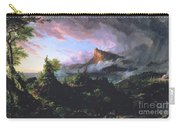 The Course Of Empire - The Savage State Carry-all Pouch by Thomas Cole