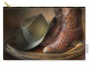 The Cowboy Boots, Hat And Lasso Carry-all Pouch