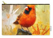 The Curious Cardinal Carry-all Pouch