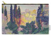 The Cypresses At Cagnes Carry-all Pouch by Henri-Edmond Cross