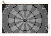 The Dart Board In Black And White Carry-all Pouch