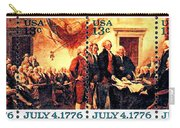 The Declaration Of Independence  Carry-all Pouch by Lanjee Chee