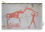 The Deer And Female Hunter Carry-all Pouch