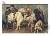 The Deerstalkers Return Carry-all Pouch by Sir Edwin Landseer