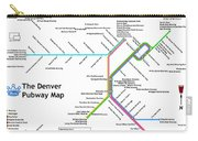 The Denver Pubway Map Carry-all Pouch