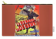 The Desert Fox  James Mason Theatrical Poster Number 2 1951 Color Added 2016 Carry-all Pouch