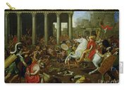 The Destruction Of The Temples In Jerusalem By Titus Carry-all Pouch by Nicolas Poussin