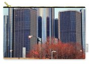The Detroit Renaissance Center Carry-all Pouch by Gordon Dean II