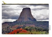 The Devils Tower Wy Carry-all Pouch by Susanne Van Hulst