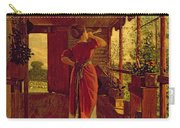 The Dinner Horn Carry-all Pouch by Winslow Homer