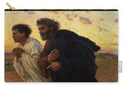 The Disciples Peter And John Running To The Sepulchre On The Morning Of The Resurrection Carry-all Pouch by Eugene Burnand