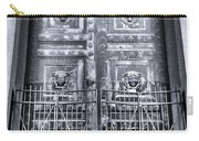The Door At The Parthenon In Nashville Tennessee Black And White Carry-all Pouch