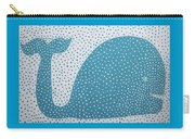 The Dotted Whale Carry-all Pouch by Deborah Boyd