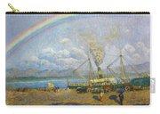 The Downpour. Santona Bay By Dario De Regoyos, 1900. Carry-all Pouch