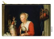 The Dutch Housewife Or The Woman Hanging A Cockerel In The Window 1650 Carry-all Pouch
