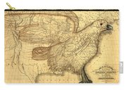 The Eagle Map Of The United States  Carry-all Pouch