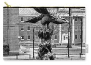 The Eagle - Widener University In Black And White Carry-all Pouch