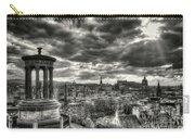 The Edinburgh Skyline, And Dugald Stewart Monument. Carry-all Pouch