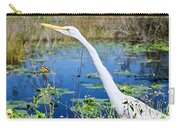 The Egret And The Dragonfly Carry-all Pouch