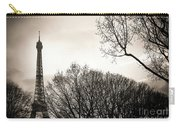 The Eiffel Tower In Backlighting. Paris. France. Europe. Carry-all Pouch