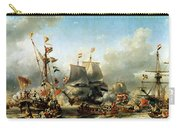 The Embarkation Of Ruyter And William De Witt In 1667 Carry-all Pouch
