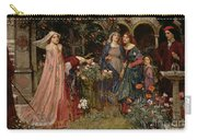 The Enchanted Garden Carry-all Pouch by John William Waterhouse