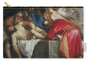 The Entombment Of Christ Carry-all Pouch by Titian