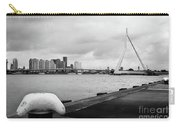 The Erasmus Bridge In Rotterdam Bw Carry-all Pouch