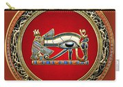 The Eye Of Horus Carry-all Pouch by Serge Averbukh
