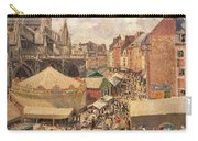 The Fair In Dieppe Carry-all Pouch by Camille Pissarro