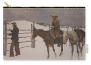 The Fall Of The Cowboy Carry-all Pouch by Frederic Remington