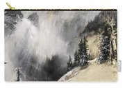 The Falling Flakes Mountain Scene. Yosemite A Mountain Snowfall Carry-all Pouch