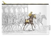 The Favorite - Thoroughbred Race Print Color Tinted Carry-all Pouch
