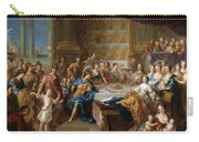 The Feast Of Dido And Aeneas. An Allegorical Portrait Of The Family Of The Duc And Duchesse Du Maine Carry-all Pouch
