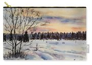 The Fields After Snow Carry-all Pouch