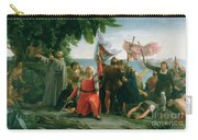 The First Landing Of Christopher Columbus Carry-all Pouch