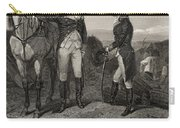 The First Meeting Of George Washington And Alexander Hamilton Carry-all Pouch