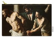 The Flagellation Of Christ Carry-all Pouch by Caravaggio