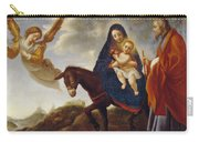 The Flight Into Egypt Carry-all Pouch by Carlo Dolci