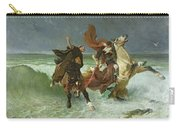 The Flight Of Gradlon Mawr Carry-all Pouch by Evariste Vital Luminais