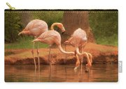 The Flock - The Serenity Of Flamingos At Water's Edge Carry-all Pouch