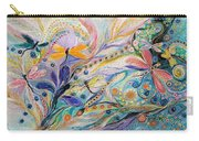 The Flowers And Dragonflies Carry-all Pouch