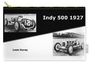 The Flying Frenchman Indy 500 1927 Leon Duray Carry-all Pouch