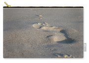 The Footprint Of Invisible Man On The Sand Carry-all Pouch