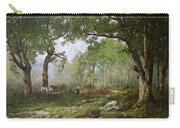 The Forest Of Fontainebleau Carry-all Pouch by Leon Richet
