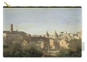 The Forum Seen From The Farnese Gardens Carry-all Pouch by Jean Baptiste Camille Corot